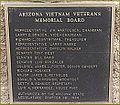 Plaque of Committee Members who made the Arizona Vietnam Veteran Memorial a reality.jpg