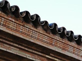 Monk and Nun - Image: Plaza de Espana Sevilla Roof tiles 02