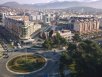 Podgorica - Panoramic view of the Roman square