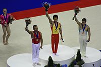 Podium of 2009WAGC Rings.JPG