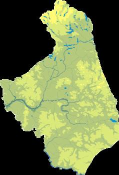 Mapa lokalizacyjna województwa podlaskiego