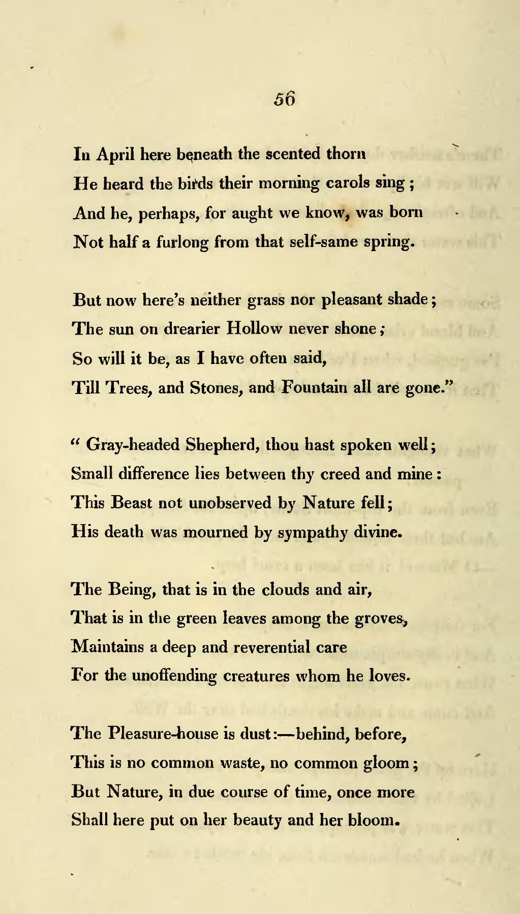 wordsworth on death