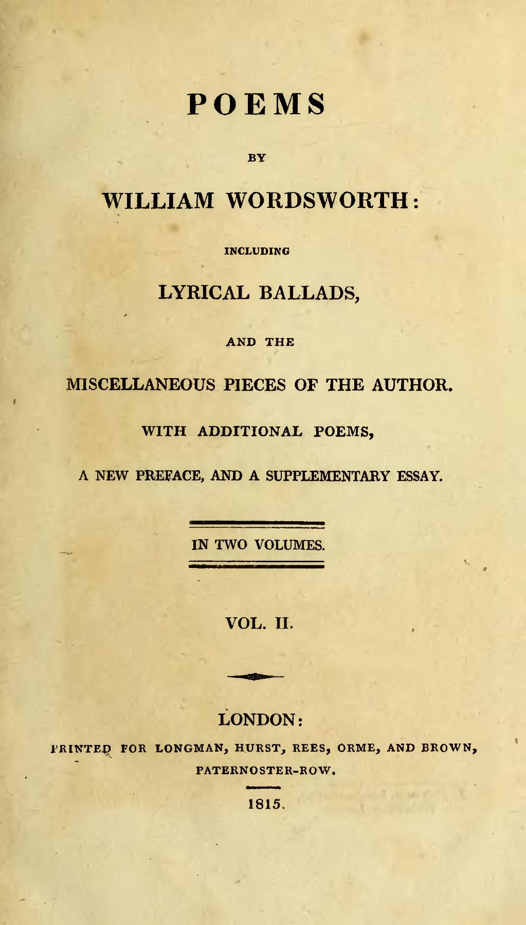 an analysis of the poem by william wordsworth Written in march analysis poem analysis the poem written in march was written by the poet named william wordsworth it was written in the year of 1798 in this poem the poet is speaking himself the poet addresses to the objects around him.
