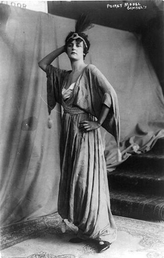 Paul Poiret - Model in a Poiret dress, 1914