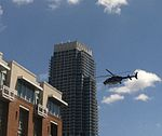 Police Helicopters Flys Low Over Protest March at DNC (7921951262).jpg