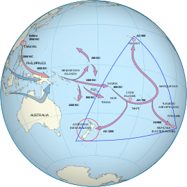 An equirectangular projection of Polynesia, cr...