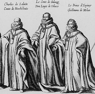 Luis de Velasco y Velasco, 2nd Count of Salazar - the 1st Count of Hoogstraeten and 2nd Count of Salazar during the Funeral of Albert VII, Arcduke