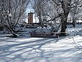 Pontoon Boat in Frozen Provo River - panoramio.jpg