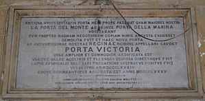 Victoria Gate (Valletta) - Porta Victoria plaque