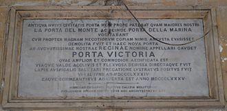 Victoria Gate (Valletta) - Porta Victoria plaque