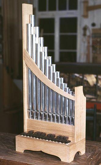 Portative organ - A historical-style portative organ built in Germany in 1979