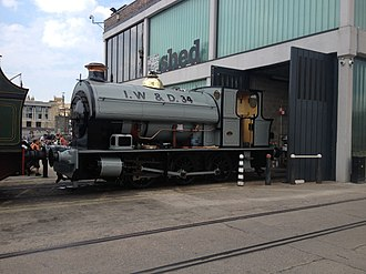 Bristol Harbour Railway - Image: Portbury steam loco 2013