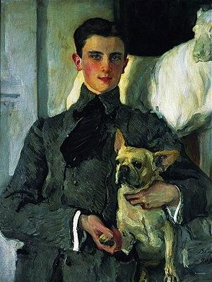 Felix Yusupov - Portrait of Felix Yusupov (1903) by Valentin Serov