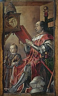 <i>Portrait of Federico da Montefeltro with His Son Guidobaldo</i> painting by Pedro Berruguete