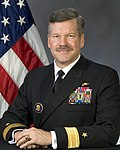 Portrait of US Navy Rear Admiral (lower half) Mark I. Fox.jpg
