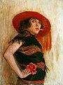 Portret van een vrouw door Henri Minderop.jpg