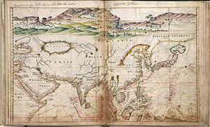 João Teixeira Albernaz I - Taboas geraes de toda a navegação Asia map, João Teixeira Albernaz, 1630