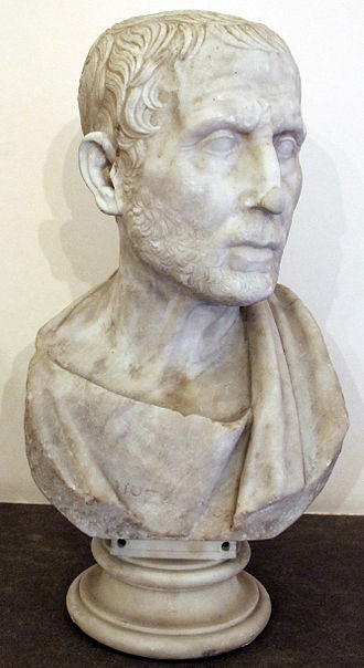 Posidonius - Bust of Posidonius from the Naples National Archaeological Museum