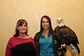 Posing for picture with Bald Eagle. (10595867343).jpg