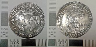 Portable Antiquities Scheme - An English sixpence of Philip and Mary, recorded via the scheme (FindID 662681)