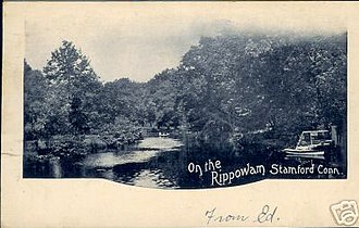 Rippowam River - Image: Postcard On The Rippowam Stamford Ct 1905