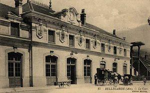 Gare de Bellegarde-sur-Valserine - The façade on a mid 20th century postcard