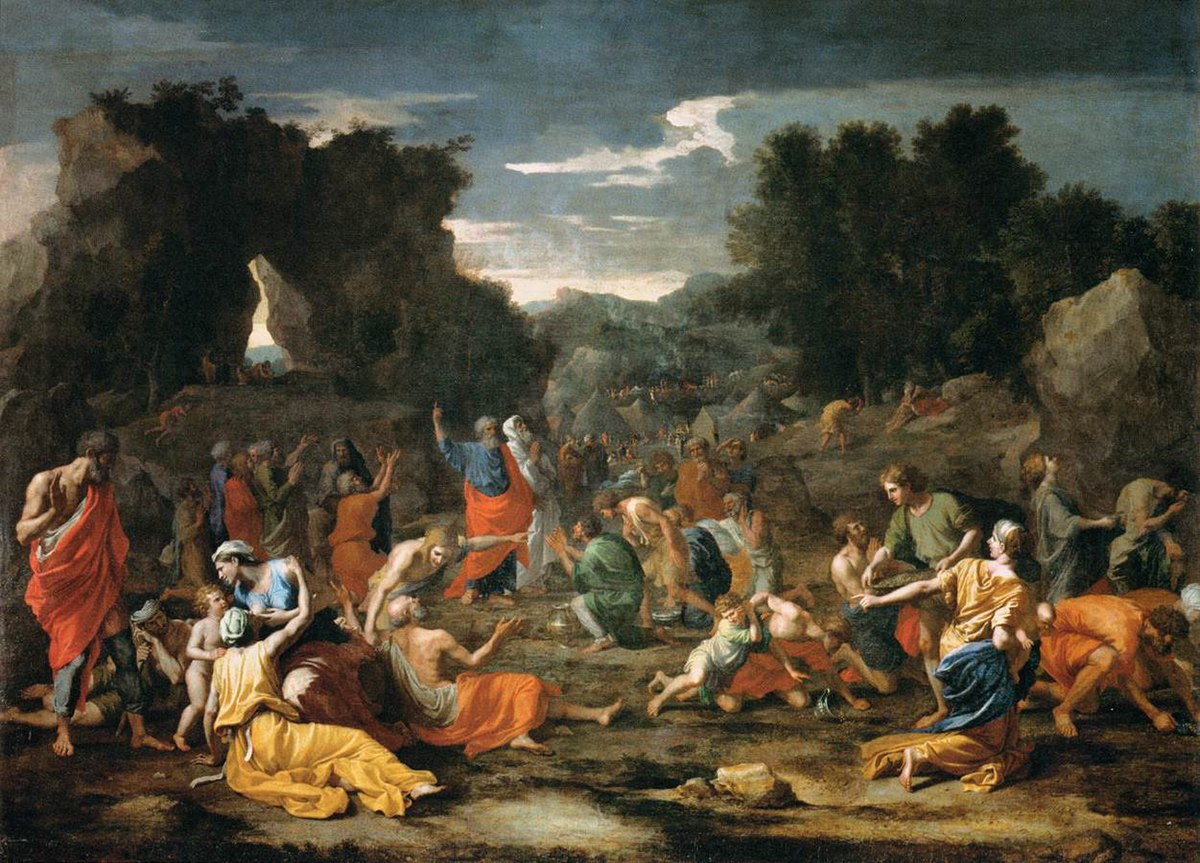 File:Poussin, Nicolas - The Jews Gathering the Manna in the Desert -1637 -  1639.jpg - Wikimedia Commons