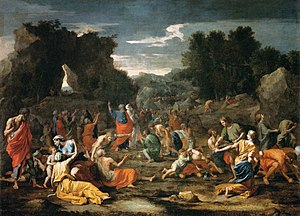'The Jews Gathering the Manna in the Desert