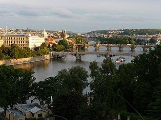 Letná Park - Image: Prager Brücken panoramio
