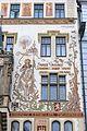 Prague Praha 2014 Holmstad Storch - huset - house med maleri av St. Vaclav - sørsiden - Starometske namesti - 6.JPG