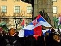 Praha, Palackého náměstí, Demonstrace proti nezávislosti Kosova II.JPG