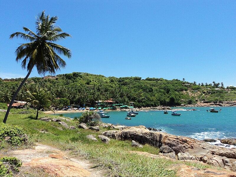 Praias com paisagens no Nordeste