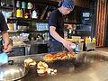 Preparation of okonomiyaki in shimo kitazawa 01.JPG