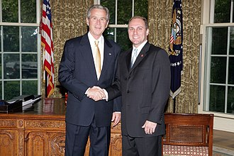 Steve Scalise - Scalise with President George W. Bush in 2008