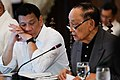 President Rodrigo Duterte listens to the reports of former President and Special Envoy to China Fidel V. Ramos.jpg