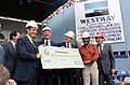President Ronald Reagan presenting New York leaders with a check for Westway Project Funds.jpg