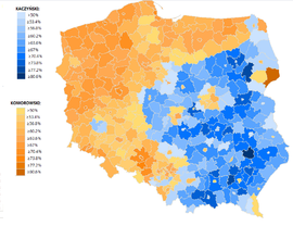 Presidential elections map by regions (Poland, 2010).png
