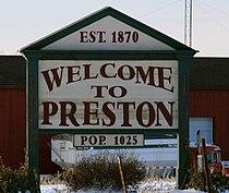 Preston Iowa 20090125 Sign.JPG