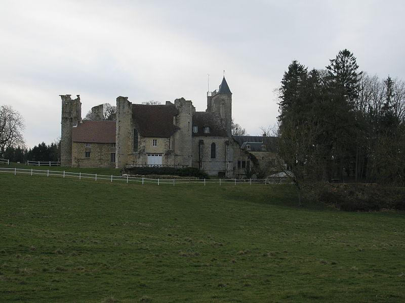 L'église ruinée du prieuré de l'épeau, Nièvre, France.