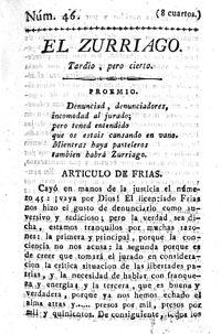 Primera página del número 46 de El Zurriago.jpg