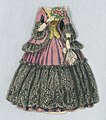 Print, Paper Doll Costume in Pink with Black Lace and Yellow Bodice, 1876–80 (CH 18344253).jpg