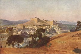 View of Villeneuve-lès-Avignon and the Fort Saint-André, by Jean-Baptiste Camille Corot