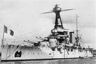French battleship Provence - Provence in harbor