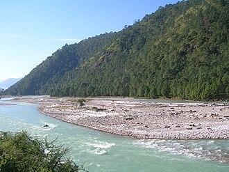 White-bellied heron - Riverine habitat in Bhutan