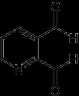 Strukturformel von Pyridin-2,3-dialdehyd