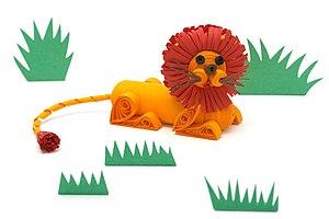Quilling - 3D Lion