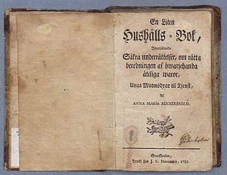 Anna Maria Rückerschöld - Image: Rückerschöld En liten hushålls bok
