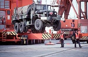 REFORGER 1991, M54 Truck unloading