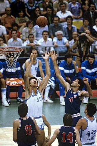 Italy national basketball team - Italians versus Yugoslavia (1980).