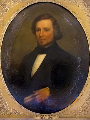 William W. Hoppin - Image: RI Governor William W Hoppin